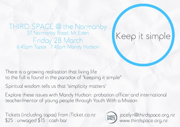 THRID SPACE simplicity flyer